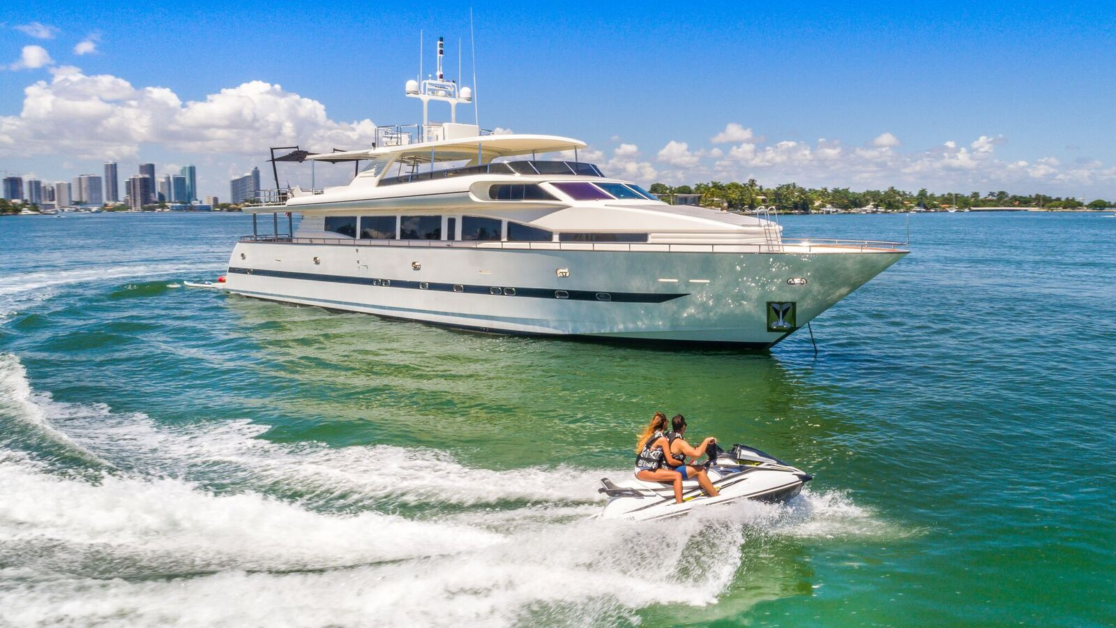 super yacht rental miami beach and jet ski